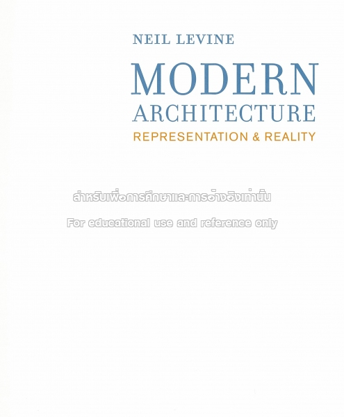 Modern Architecture Representation And Reality modern architecture - tcdc resource center
