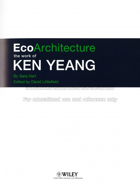 menara mesiniaga by ken yeang essay Essay add: 24-10-2015, 21:30  ken yeang in his the skyscraper-bio climatically considered discusses about the importance and types of shading required in tall.