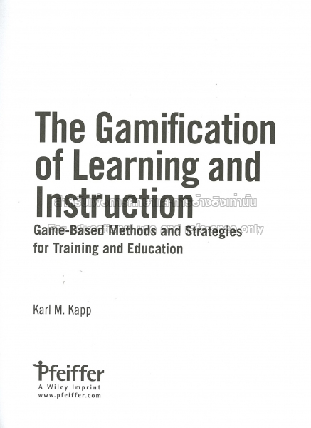 The Gamification Of Learning And Instruction Ebook