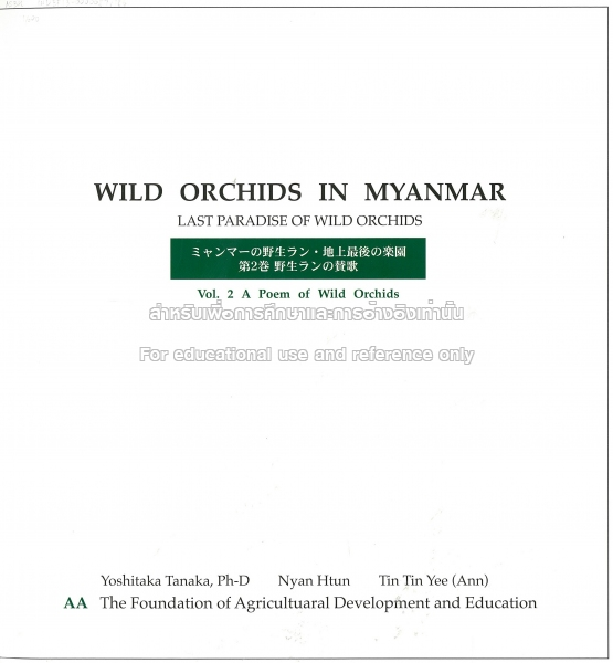 Wild Orchids In Myanmar Tcdc Resource Center