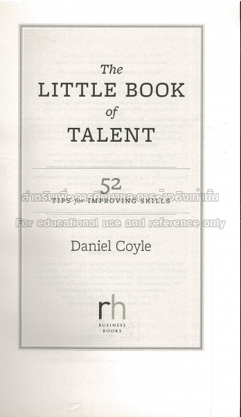 The Little Book Of Talent Tcdc Resource Center