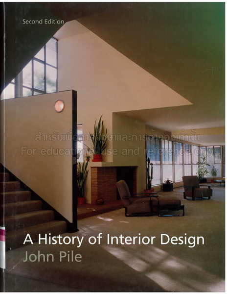 A history of interior design. by John F Pile