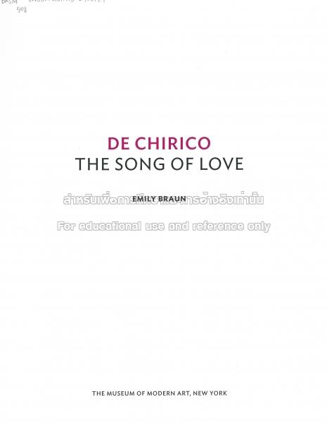 de chirico the song of love
