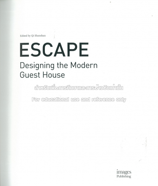 TCDC: Escape : designing the modern guest house
