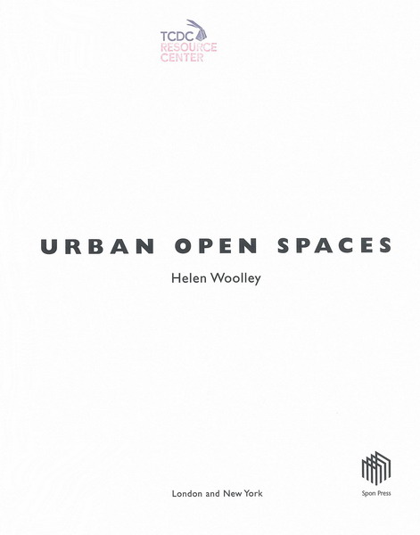 urban open spaces woolley helen